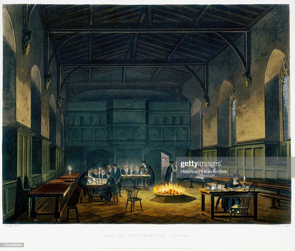 Hall Of Westminster School By Augustus Pugin Pictures Getty Images # Augustus Pugin Muebles