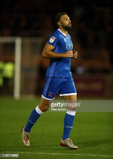 Hallam Hope of Carlisle United in action during the Sky Bet League Two match between Carlisle United and Northampton Town at Brunton Park on October...