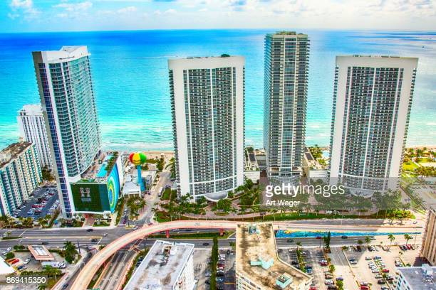 Hallandale Beach Florida Aerial