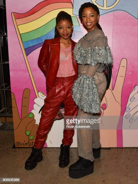 Halle Bailey and Chloe Bailey at Freeform Summit on January 18 2018 in Hollywood California