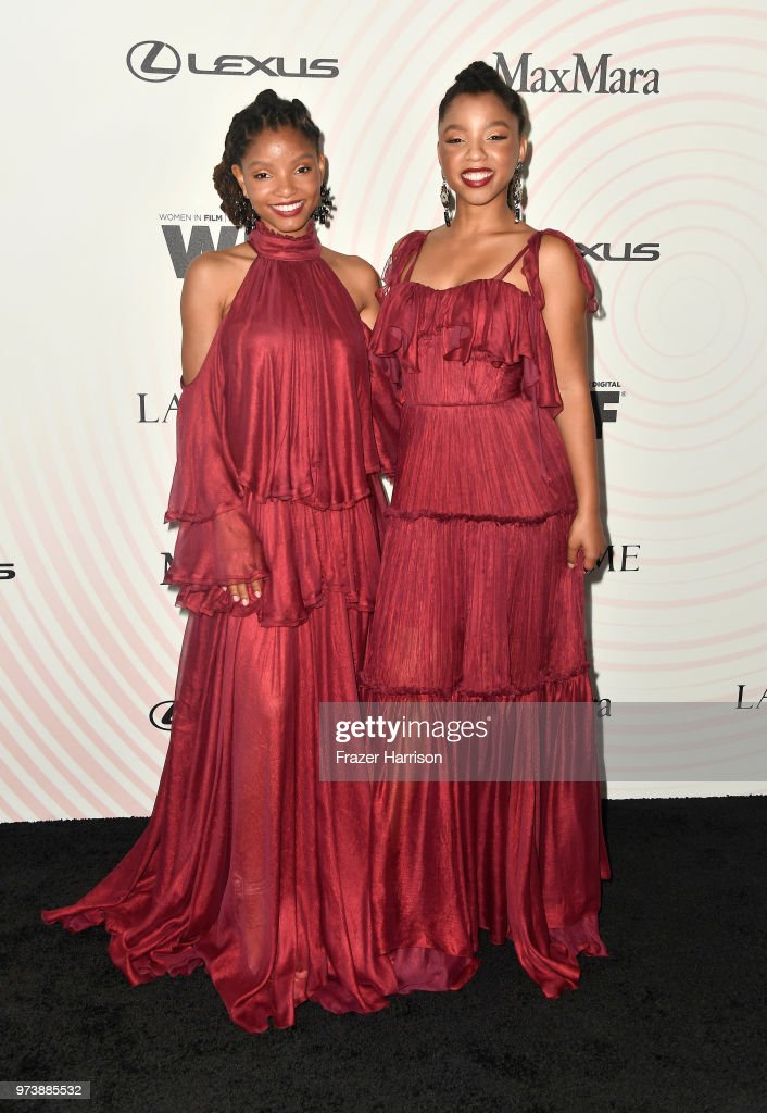 Halle Bailey and Chloe Bailey of Chloe X Halle attend the Women In Film 2018 Crystal + Lucy Awards presented by Max Mara, Lancôme and Lexus at The Beverly Hilton Hotel on June 13, 2018 in Beverly Hills, California.