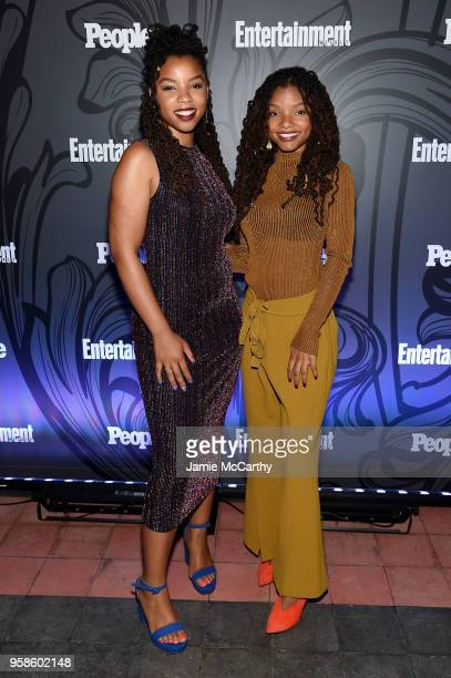 Halle Bailey and Chloe Bailey of Grownish attend Entertainment Weekly PEOPLE New York Upfronts celebration at The Bowery Hotel on May 14 2018 in New...