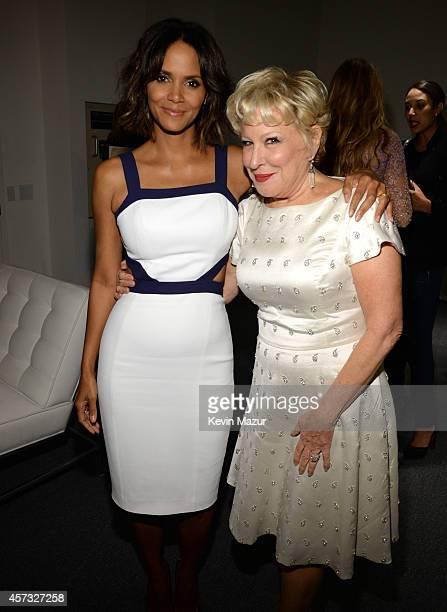 Halle Berry and Bette Midler attend God's Love We Deliver Golden Heart Awards on October 16 2014 in New York City