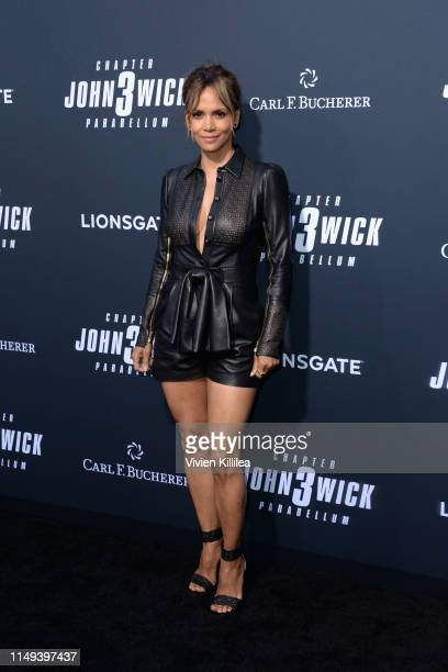 "Halle Berry and Carl F. Bucherer celebrate the premiere of ""John Wick: Chapter 3 - Parabellum"" on May 15, 2019 in Los Angeles, California."