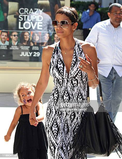 Halle Berry and daughter Nahla Aubry are seen shopping in Century City on July 26 2011 in Los Angeles California