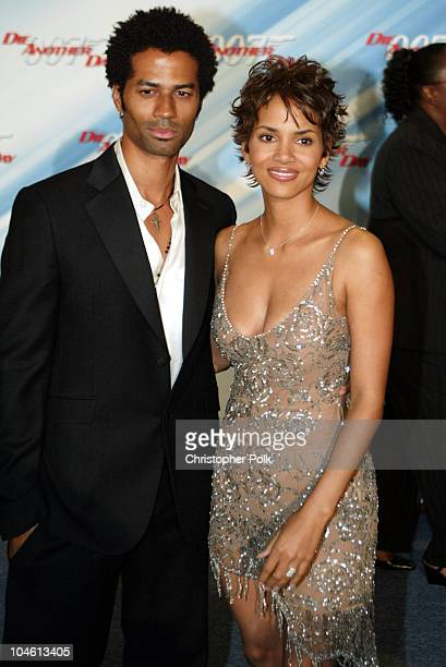 Halle Berry and Eric Benet during Special Screening of MGM's Die Another Day at The Shrine Auditorium in Hollywood CA United States