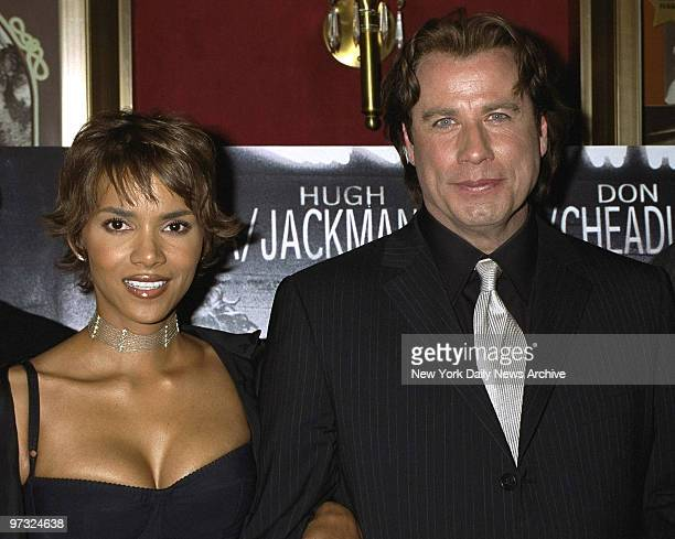 Halle Berry and John Travolta at a special screening of the movie Swordfish held at the Ziegfeld Theater