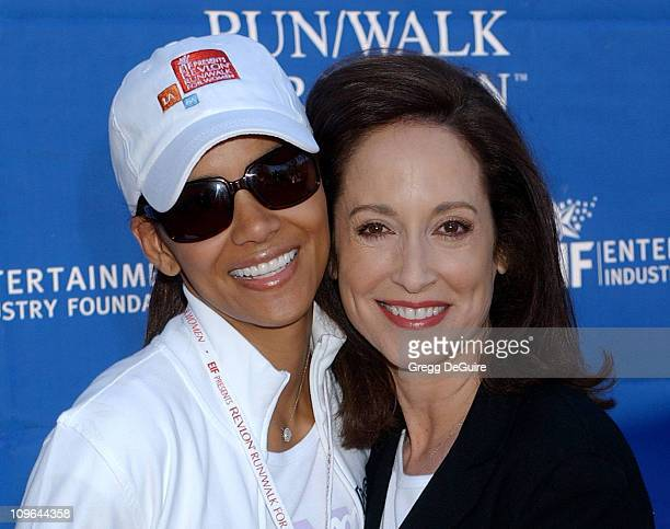 Halle Berry and Lilly Tartikoff during 12th Annual Revlon Run/Walk For Women Los Angeles at Los Angeles Memorial Coliseum in Los Angeles California...