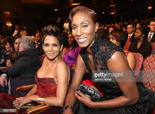 Halle Berry and Lisa Leslie attend BET Honors 2013 at Warner Theatre on January 12 2013 in Washington DC