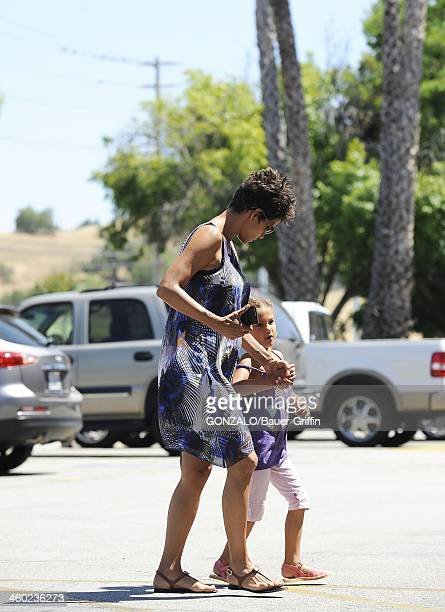 Halle Berry and Nahla Aubry are seen on May 14 2013 in Los Angeles California