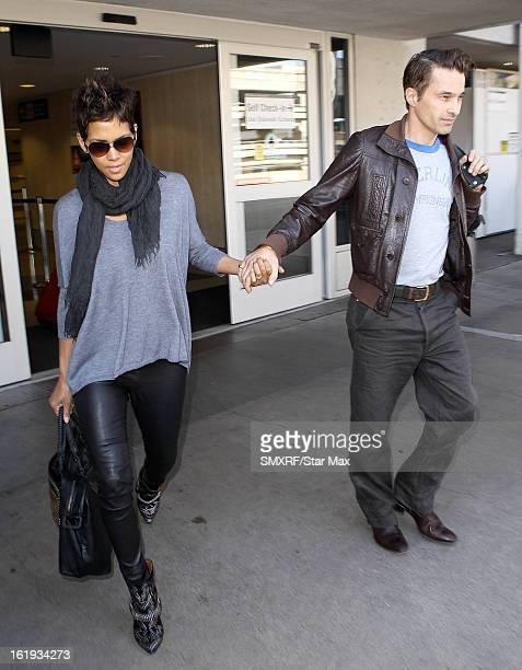 Halle Berry and Olivier Martinez as seen on February 17, 2013 in Los Angeles, California.