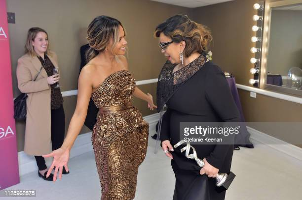 Halle Berry and Ruth E Carter recipient of the Excellence in SciFi / Fantasy Film award for 'Black Panther' attend The 21st CDGA at The Beverly...