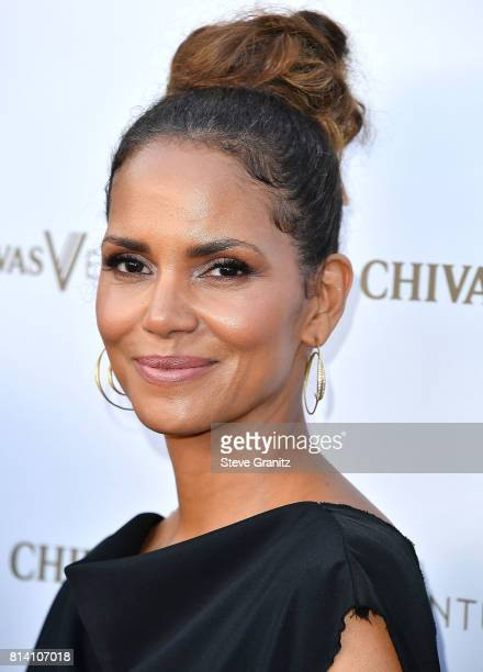 Halle Berry arrives at the Chivas Regal 'The Final Pitch' at LADC Studios on July 13 2017 in Los Angeles California