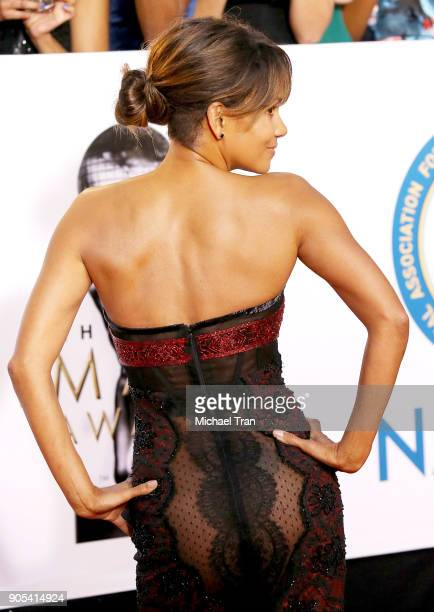 Halle Berry arrives to the 49th NAACP Image Awards held at Pasadena Civic Auditorium on January 15 2018 in Pasadena California