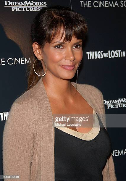 Halle Berry arrives to the Cinema Society's special screening Of Things We Lost In The Fire at the Tribeca Grand Hotel on October 5 2007