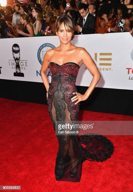 Halle Berry at the 49th NAACP Image Awards on January 15 2018 in Pasadena California
