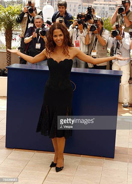 Halle Berry at the Palais des Festival Terrace in Cannes France