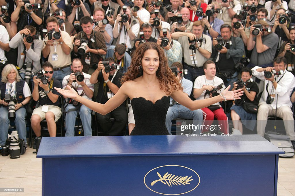 Halle Berry at the photo call of 'X Men 3' during the 59th Cannes Film Festival.