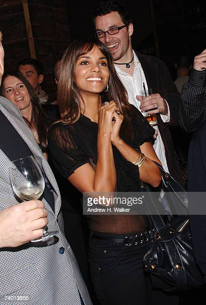 Halle Berry attends a surprise party for Wilhelmina model Gabriel Aubry hosted by Calvin Klein Inc on April 27 2007 in New York City