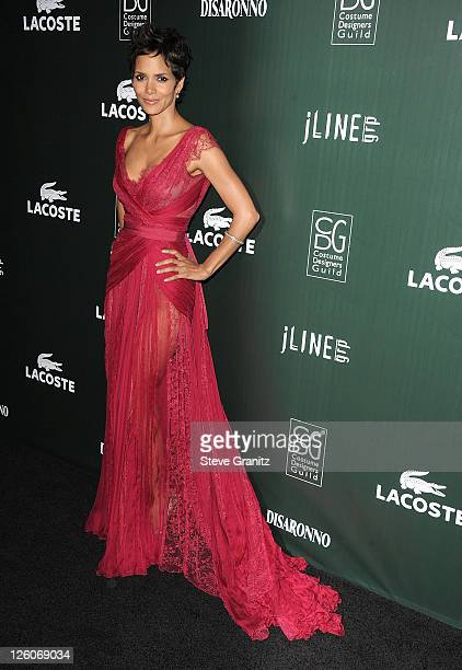 Halle Berry attends the 13th Annual Costume Designers Guild Awards at The Beverly Hilton hotel on February 22 2011 in Beverly Hills California