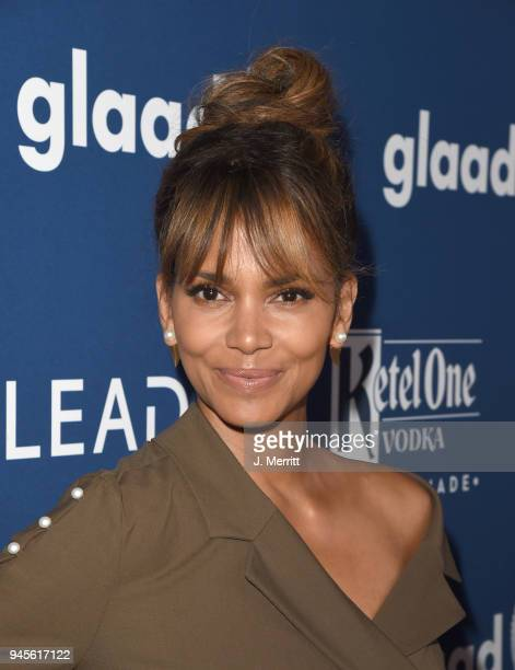 Halle Berry attends the 29th Annual GLAAD Media Awards at The Beverly Hilton Hotel on April 12 2018 in Beverly Hills California