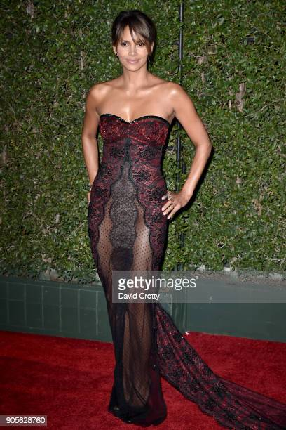 Halle Berry attends the 49th NAACP Image Awards Arrivals at Pasadena Civic Auditorium on January 15 2018 in Pasadena California