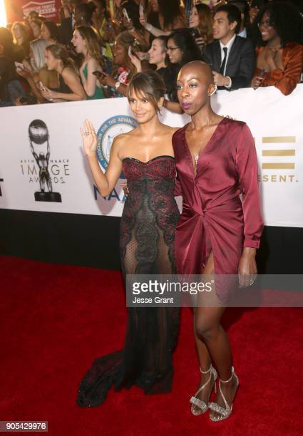 Halle Berry attends the 49th NAACP Image Awards at Pasadena Civic Auditorium on January 15 2018 in Pasadena California