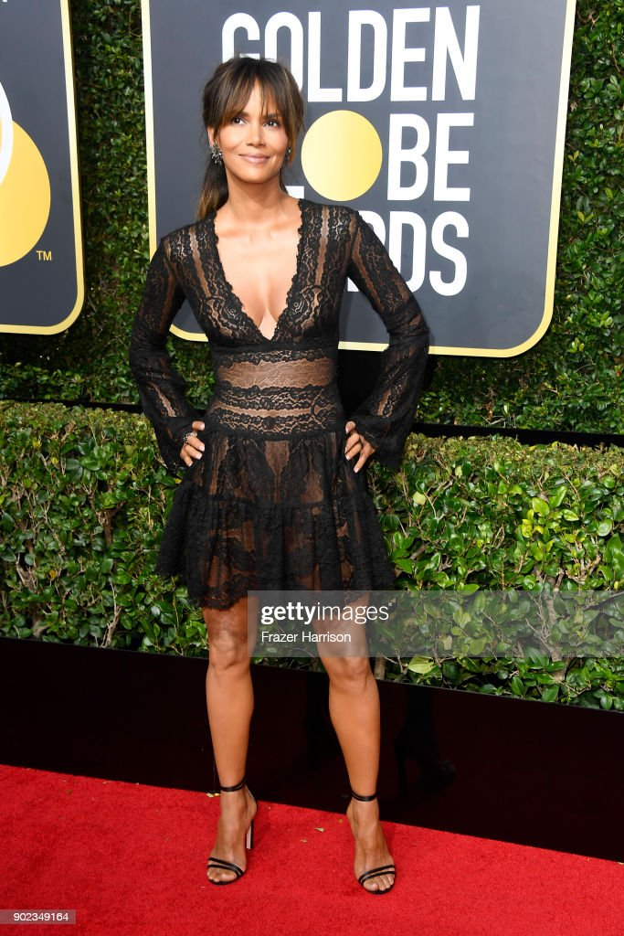 Halle Berry attends The 75th Annual Golden Globe Awards at The Beverly Hilton Hotel on January 7, 2018 in Beverly Hills, California.