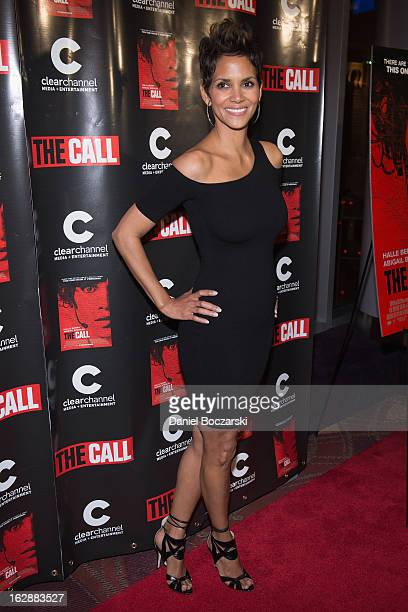 Halle Berry attends The Call premiere at Showplace Icon Theater on February 28 2013 in Chicago Illinois