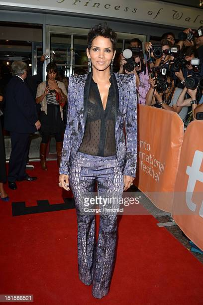 Halle Berry attends the 'Cloud Atlas' premiere during the 2012 Toronto International Film Festival at the Princess of Wales Theatre on September 8...