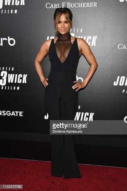 Halle Berry attends the John Wick Chapter 3 world premiere at One Hanson Place on May 9 2019 in New York City