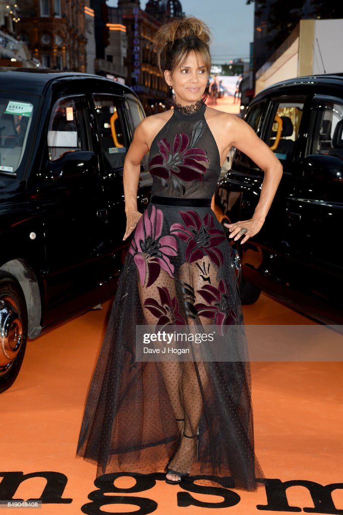 Halle Berry attends the 'Kingsman: The Golden Circle' World Premiere held at Odeon Leicester Square on September 18, 2017 in London, England.