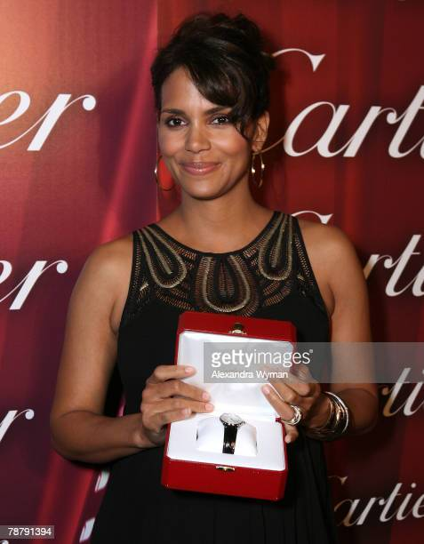 Halle Berry backstage at the 19th Annual Palm Springs International Film Festival Awards Gala Presented by Cartier held at the Palm Springs...