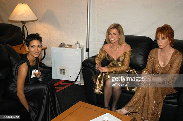 Halle Berry Donna Mills and Reba McEntire during The TV Land Awards Backstage at Hollywood Palladium in Hollywood CA United States