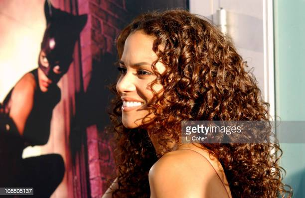 """Halle Berry during """"Catwoman"""" World Premiere - Red Carpet at Cinerama Dome in Hollywood, California, United States."""