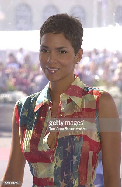 Halle Berry during Deauville 2001 Swordfish Photocall at Centre International Deauville CID in Deauville France