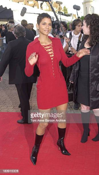Halle Berry during Deauville 2001 The Swordfish Premiere at Centre International Deauville CID in Deauville France