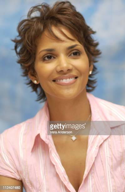 Halle Berry during 'Die Another Day' Press Conference with Halle Berry Lee Tamahori Rosamund Pike Toby Stephens and Rick Yune at The Four Seasons...