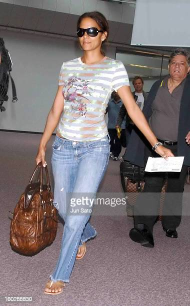 Halle Berry during Halle Berry Arrives in Japan to Promote XMen The Last Stand at Narita International Airport in Narita Japan