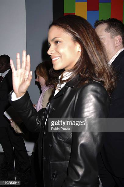 "Halle Berry during ""Thank You For Smoking"" New York Premiere - Inside Arrivals - March 12, 2006 at Museum of Modern Art in New York City, NY, United..."