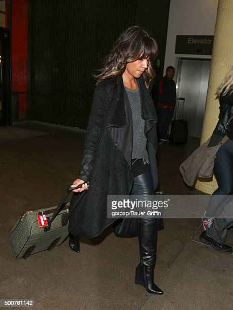Halle Berry is seen at Los Angeles International Airport on December 09 2015 in Los Angeles California