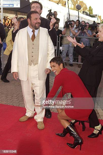 Halle Berry Joel Silver during Deauville 2001 The Swordfish Premiere at Centre International Deauville CID in Deauville France