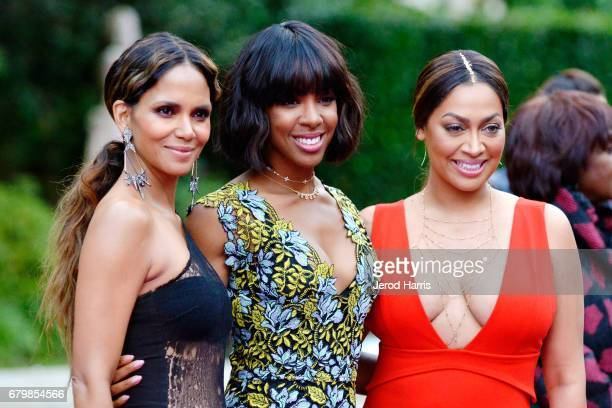 Halle Berry Kelly Rowland and La La Anthony arrive at VH1's 2nd Annual 'Dear Mama An Event To Honor Moms' at The Huntington Library on May 6 2017 in...