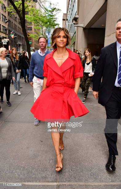 Halle Berry leaves NBC's 'Today' show at Rockefeller Center on May 6, 2019 in New York City.