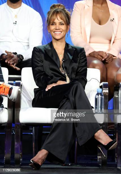 Halle Berry of the television show Boomerang speaks during the BET segment of the 2019 Winter Television Critics Association Press Tour at The...