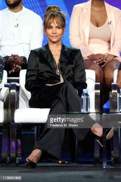 "Halle Berry of the television show ""Boomerang"" speaks during the BET segment of the 2019 Winter Television Critics Association Press Tour at The..."