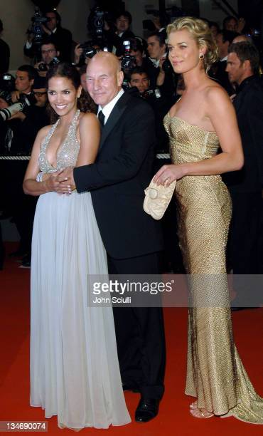 Halle Berry Patrick Stewart and Rebecca Romijn during 2006 Cannes Film Festival XMen 3 The Last Stand Premiere at Palais des Festival in Cannes France