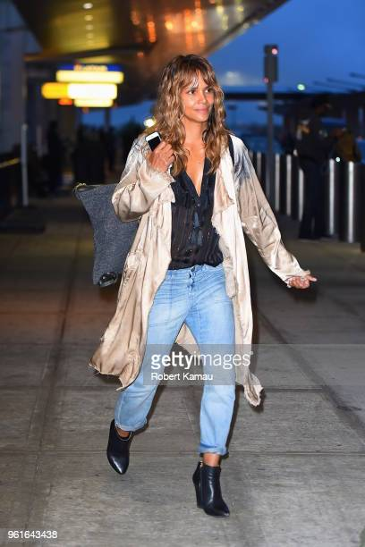Halle Berry seen out at JFK Airport on May 22 2018 in New York City