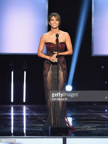 Halle Berry speaks onstage at the 49th NAACP Image Awards on January 15 2018 in Pasadena California