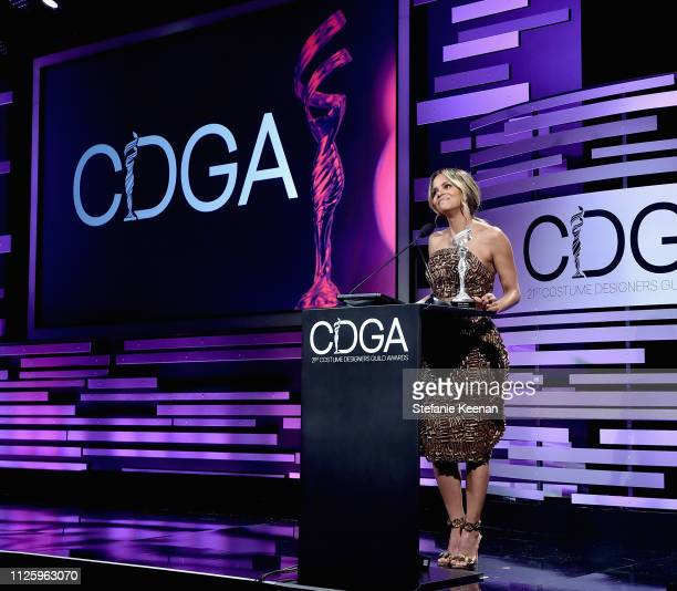 Halle Berry speaks onstage during The 21st CDGA at The Beverly Hilton Hotel on February 19 2019 in Beverly Hills California